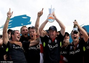 England beat Australia to win ICC World Twenty20 in 2010.
