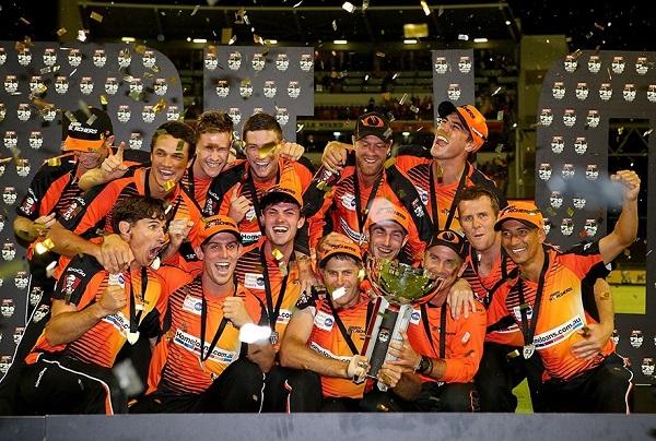 Perth Scorchers won 2013-14 Big Bash League.