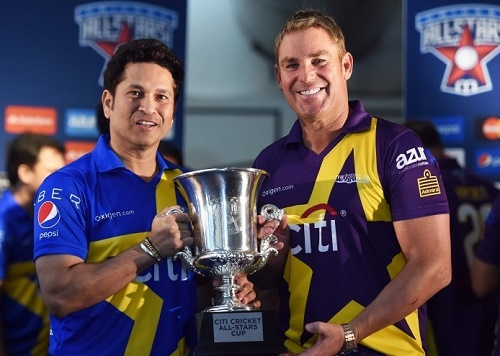 Sachin's Blasters vs Warne's Warriors.