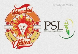 Islamabad United Team Squad for PSL 2016.