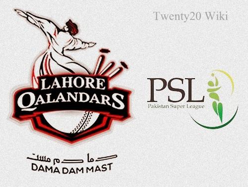 Lahore Qalandars Team Squad for PSL 2016.