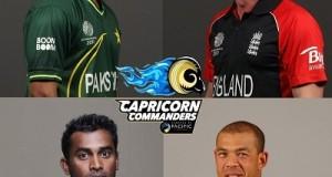 Capricorn Commanders Squad for 2016 MCL Twenty20