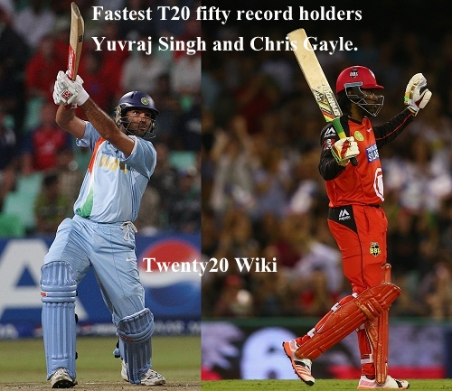 Gayle equalize Yuvraj's 12-ball fifty Twenty20 record.