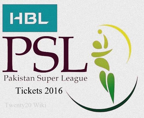 HBL Pakistan Super League 2016 Tickets sale begins.