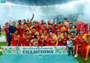 Islamabad United won 2016 Pakistan Super League