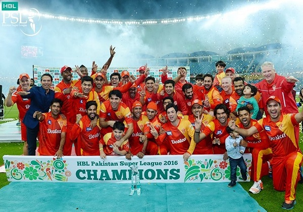 Islamabad United won 2016 Pakistan Super League