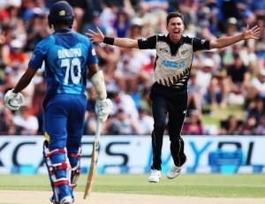 Kiwis beat Sri Lanka in a close contest by 3 runs.
