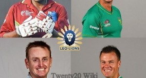 Leo Lions Squad for 2016 MCL Twenty20