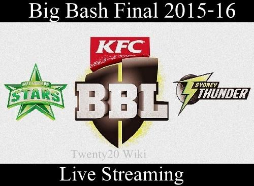 Melbourne Stars vs Sydney Thunder BBL-05 final live streaming.