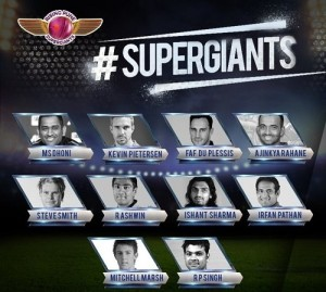 Rising Pune Supergiants Squad for Vivo IPL 2016.