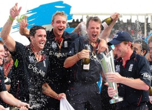 ICC World Twenty20 2010 Winning Team England Squad.