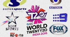 ICC World Twenty20 2016 Broadcast, TV Channels