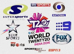 ICC World Twenty20 2016 Broadcast, TV Channels.
