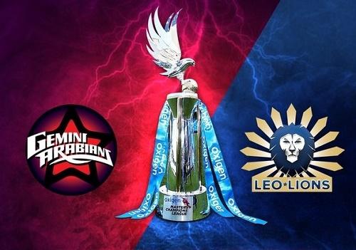 MCL 2016 Final Gemini Arabians v Leo Lions live streaming.