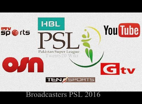 Pakistan Super League 2016 Live Streaming, Telecast.