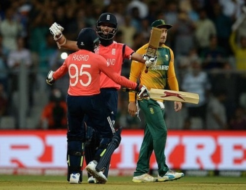 England chased highest wt20 score against South Africa.