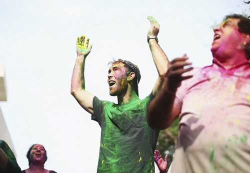 Glenn Maxwell Holi photos.