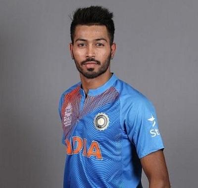 Hardik Pandya wearing Men in Blue new jersey for world t20 2016.