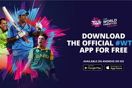 ICC World Twenty20 2016 Official App Released.