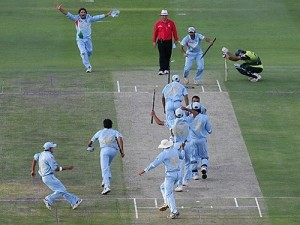 India beat Pakistan in the final of twenty20 world cup 2007.