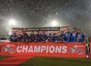 India won 2016 Asia Cup final.