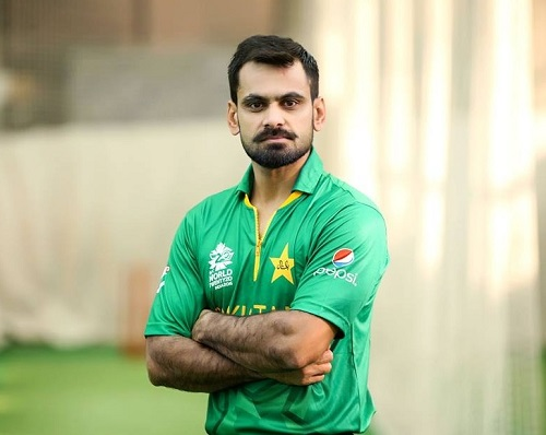 Mohammad Hafeez wearing world t20 2016 dress.