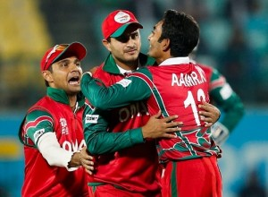 Oman upset Ireland to win first world t20 match.