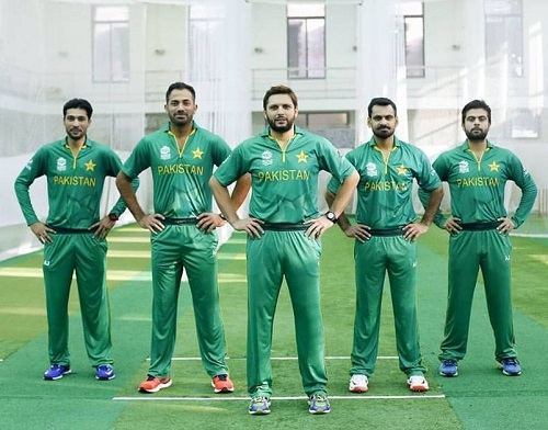 Pakistan team Jersey, Kit for world twenty20 2016.