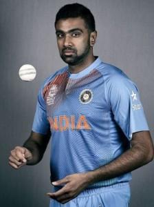 Ravichandran Ashwin wearing world t20 2016 kit.