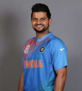 Suresh Raina wearing Indian world t20 2016 kit.