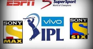 Vivo IPL 2016 Live Broadcast, TV Channels List