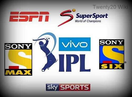 Vivo IPL 2016 Live Broadcast, TV Channels List.