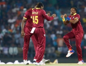 West Indies beat Africa to enter World T20 semi-final.