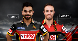 RCB launches home and away kits for IPL 9