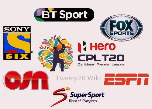 Caribbean Premier League 2016 Broadcasters, Live Telecast.