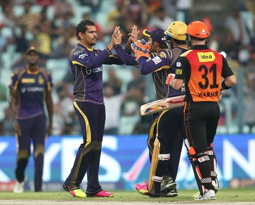 Kolkata Knight Riders beat SRH to enter IPL Playoffs 2016.