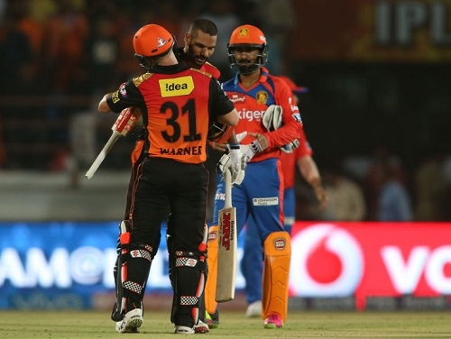 SRH vs GL Match-34 2016 IPL preview, live telecast.