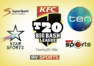 Big Bash League Broadcasters, TV Channels List