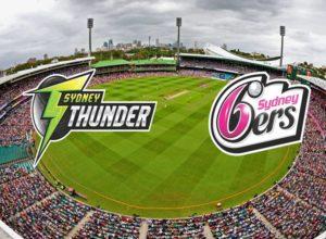 Sydney Thunder vs Sydney Sixers Live Streaming.