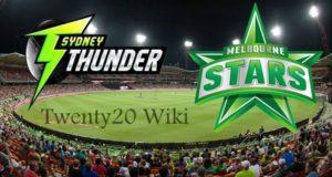 Sydney Thunder vs Melbourne Stars Live Streaming