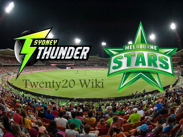 Sydney Thunder vs Melbourne Stars Live Streaming