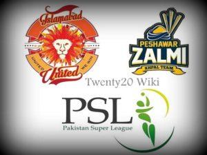 Islamabad United vs Peshawar Zalmi Live Streaming