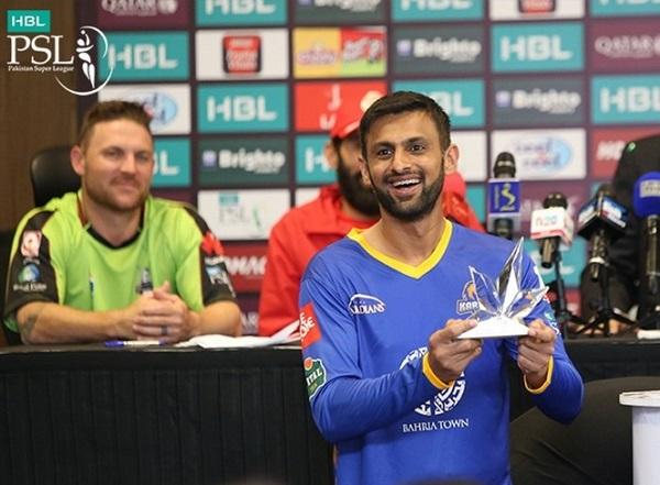 Pakistan Super League 2017 man of the tournament trophy.