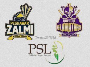 Quetta Gladiators vs Peshawar Zalmi Live Streaming