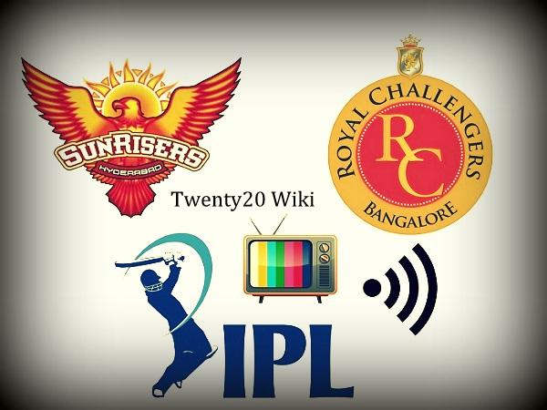 RCB vs SRH live streaming IPL