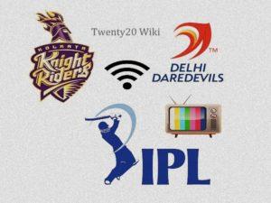 Delhi Daredevils vs Kolkata Knight Riders Live Streaming