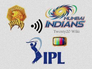 Gujarat Lions vs Mumbai Indians Live Streaming