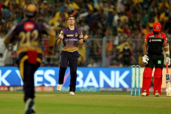 RCB scored lowest IPL score 49 against KKR.