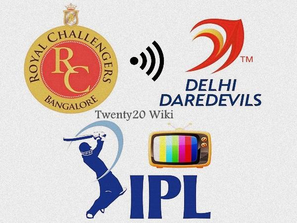 RCB vs Delhi Daredevils IPL live streaming