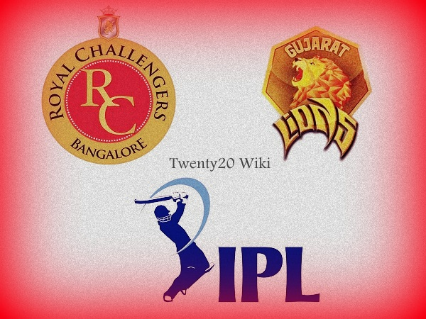 RCB vs GL match-31 Preview, Win Predictions IPL 2017